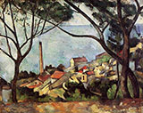 The Sea at L'Estaque - Paul Cezanne reproduction oil painting