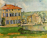 House and Farm at Jas de Bouffan - Paul Cezanne