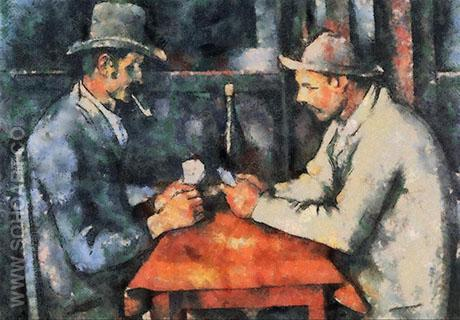 The Card Players - Paul Cezanne reproduction oil painting