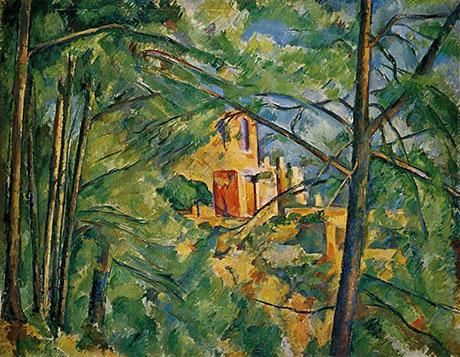 View of Chateau Noir 1904 - Paul Cezanne reproduction oil painting