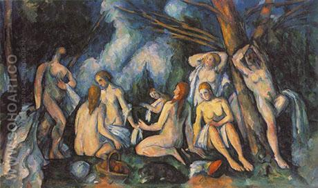 The Large Bathers c1905 - Paul Cezanne reproduction oil painting