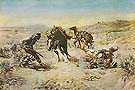 Cinch Ring - Charles M Russell reproduction oil painting