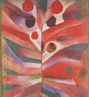 Feather Plant 1919 - Paul Klee reproduction oil painting