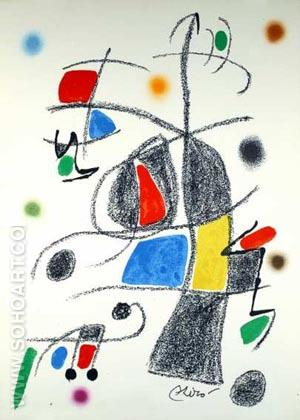 Maravillas 1975 - Joan Miro reproduction oil painting