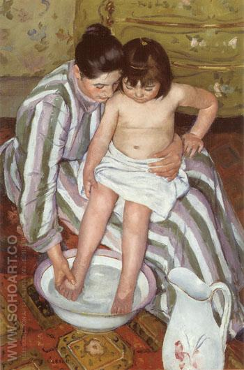 The Bath, 1893 - Mary Cassatt reproduction oil painting