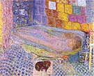 Nude in Bath with Small Dog - Pierre Bonnard reproduction oil painting