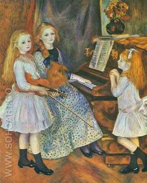 The Daughters of Catulle Mendes 1888 - Pierre Auguste Renoir reproduction oil painting
