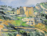 Houses in L'Estaque - Paul Cezanne reproduction oil painting