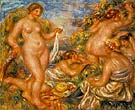Bathers (Les baigneuses) 1918 - Pierre Auguste Renoir reproduction oil painting
