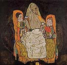 Mother with  Two Children 1917 - Egon Scheile reproduction oil painting