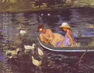 Summertime 1894 - Mary Cassatt reproduction oil painting