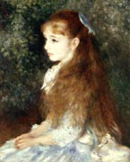 Portrait of Mademoiselle Irene Cahan d'Anvers - Pierre Auguste Renoir reproduction oil painting