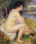 Nude Amid Landscape 1883 - Pierre Auguste Renoir
