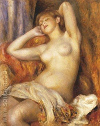 Sleeping Bather 1897 (Sleeping Woman) - Pierre Auguste Renoir reproduction oil painting