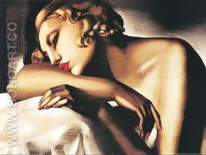La Dormeuse - Tamara de Lempicka reproduction oil painting