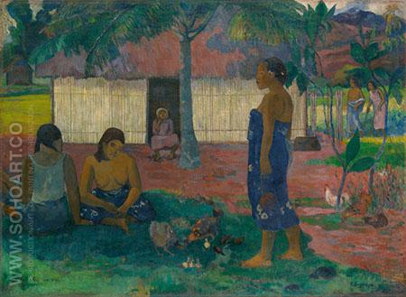 Why Are You Angry? - Paul Gauguin reproduction oil painting