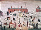 The School Yard - L-S-Lowry
