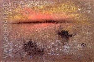 Venice at Sunset 1870 - James McNeill Whistler reproduction oil painting
