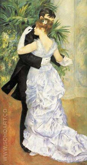 Dance in the City 1882-3 - Pierre Auguste Renoir reproduction oil painting