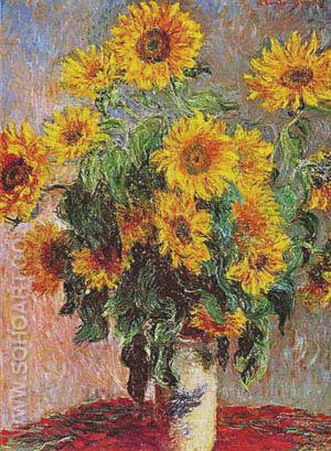 Sunflowers (Bouquet de Soleils) 1880 - Claude Monet reproduction oil painting