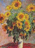 Sunflowers (Bouquet de Soleils) 1880 - Claude Monet reproduction oil painting