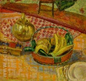 Basket of Bananas - Pierre Bonnard reproduction oil painting