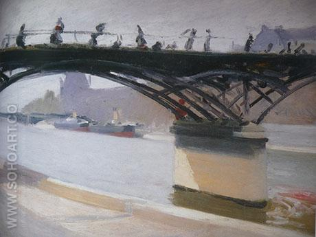 Le Pont des Arts - Edward Hopper reproduction oil painting