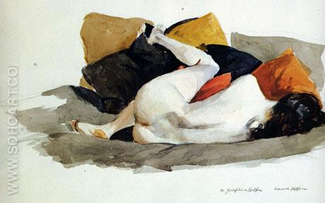 Reclining Nude - Edward Hopper reproduction oil painting