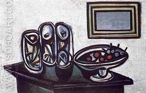 Still Life with Cherries - Pablo Picasso reproduction oil painting