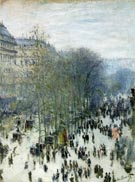 Boulevard des Capucines 1873 - Claude Monet reproduction oil painting