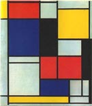 Tableau II - Piet Mondrian reproduction oil painting