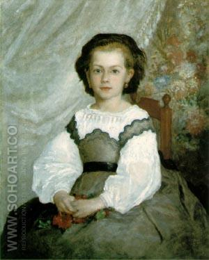 Portrait de Romaine Lacaux 1864 - Pierre Auguste Renoir reproduction oil painting