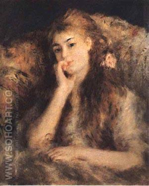 Portrait of a Young Girl 1878 - Pierre Auguste Renoir reproduction oil painting