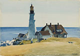 Portland Head Light 1927 - Edward Hopper reproduction oil painting