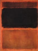 Tan and Black on Red - Mark Rothko