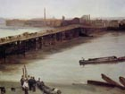 Brown and Silver: Old Battersea Bridge 1859 - James McNeill Whistler reproduction oil painting
