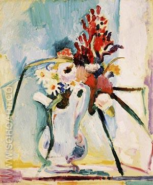 Flowers in a Pitcher 1906 - Henri Matisse reproduction oil painting
