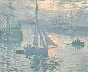 Sunrise (Marine) 1873 - Claude Monet reproduction oil painting