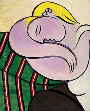 Woman with Yellow Hair [Femme aux cheveux jaunes] 1931 - Pablo Picasso reproduction oil painting
