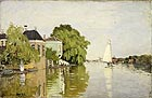 Landscape near Zaandam 1871 - Claude Monet reproduction oil painting