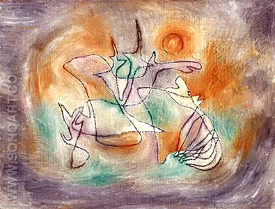 Howling Dog - Paul Klee reproduction oil painting