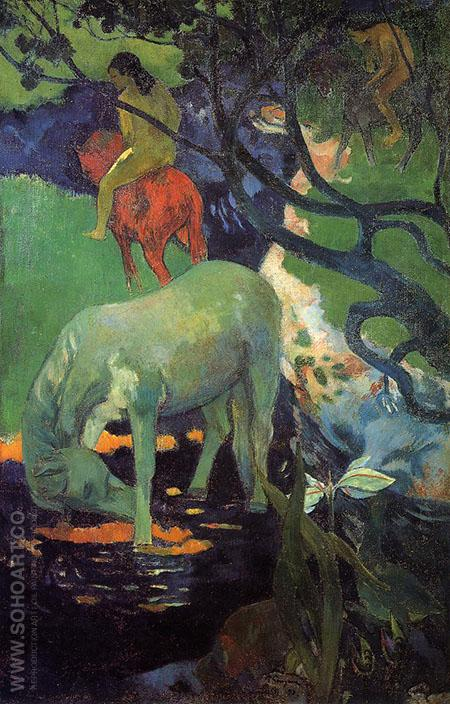 The White Horse 1898 - Paul Gauguin reproduction oil painting