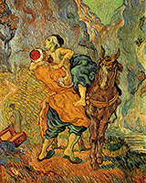 The Good Samaritan (after Delacroix) 1890 - Vincent van Gogh reproduction oil painting