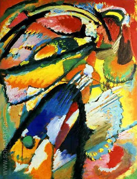 Angel of the Last Judgment 1911 - Wassily Kandinsky reproduction oil painting