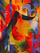 Broken Forms 1914 - Franz Marc reproduction oil painting