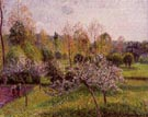 Flowering Apple Trees, Eragny 1895 (Pommiers en Fleurs Eragny) - Camille Pissarro reproduction oil painting