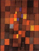 Pictorial Architecture (Red, Yellow, Blue) 1923 - Paul Klee reproduction oil painting