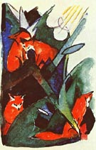 Four Foxes - Franz Marc reproduction oil painting