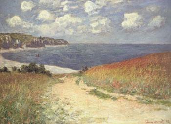 Chemin Dans les Bles a Pourville (Meadow Walk at Pourville )1882 - Claude Monet reproduction oil painting