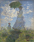 Madame Monet and her Son 1875 - Claude Monet reproduction oil painting